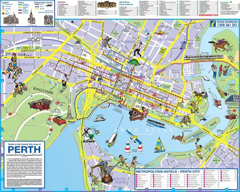 perth wa map  perth city teaching aids maps perth