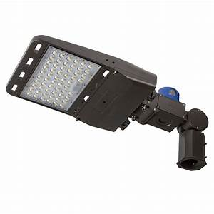 150w Led Parking Lot  Shoebox Area Light W   Photocell - 21 000 Lumens