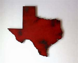 Texas metal wall art 10 wide choose your color usa for Texas wall decor
