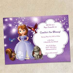 Sofia the first party invitation template instant download for Sofia the first free invitation templates