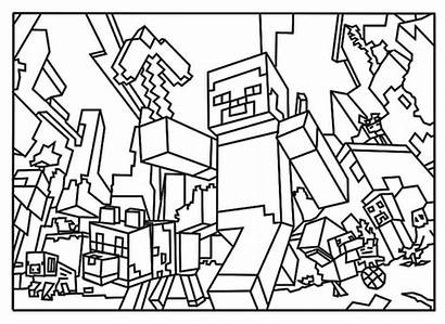 Coloring Creeper Minecraft Axe
