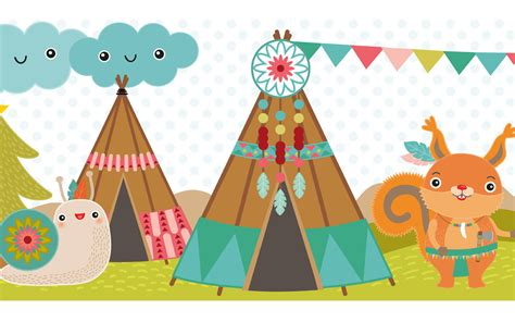Kinderzimmer Mädchen Bordüre by Kinderzimmer Bord 252 Re Coole Indianer Wohnen In Tipis