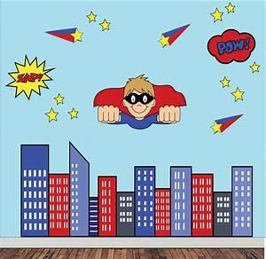 Super hero super hero wall decals for Superhero wall decals