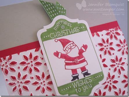 fun christmas card  coloring tip  embossed images