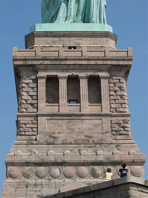 statue of liberty pedestal what makes liberty stand so