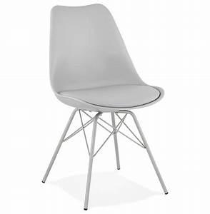 Chaise Style Industriel : chaise design byblos grise style industriel ~ Teatrodelosmanantiales.com Idées de Décoration