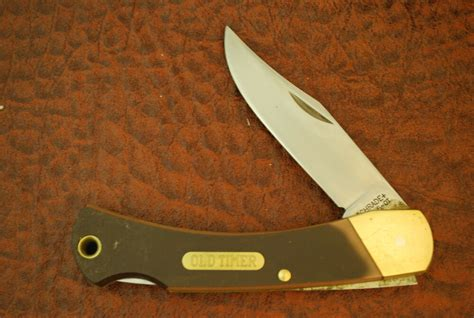 Knives Made In Usa by Schrade Made In Usa Timer Sawcut Delrin Jumbo Lockback