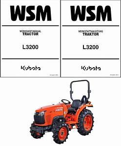 Kubota L3200 Tractor Service Repair Workshop Manual Cd