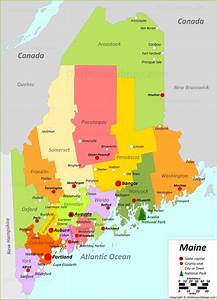 Maine State Maps