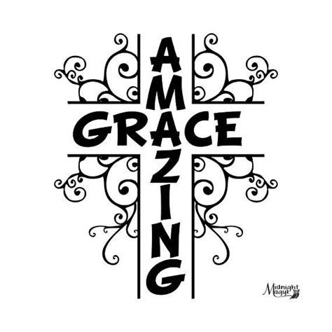 Amazing Grace Vine Cross Svg  Pinterest  Amazing Grace