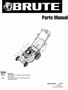 Illustrated Parts List Brute 22  7 25tp 7800883  6 75tp