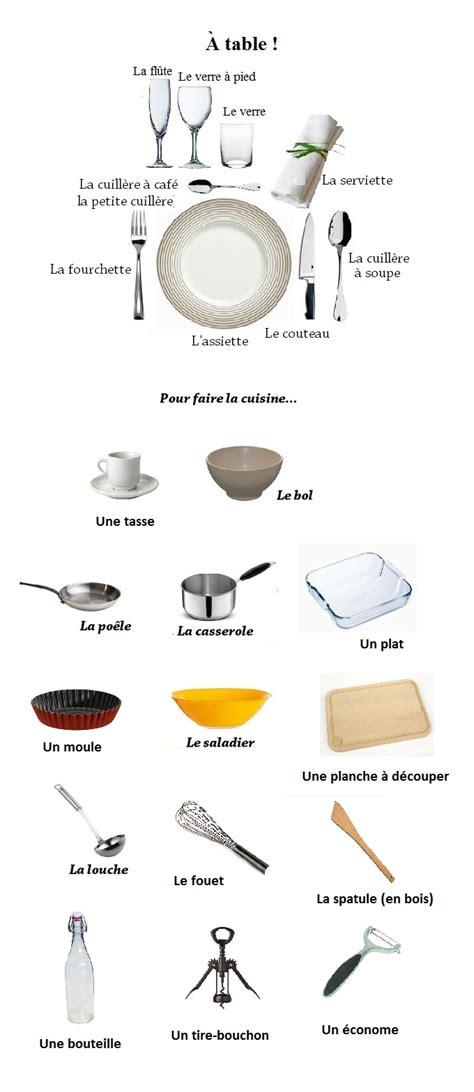 vocabulaire ustensiles de cuisine les ustensiles de la cuisine le coin du français