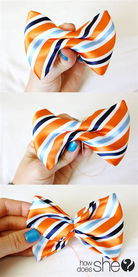 Diy Make A Bow Tie From A Mens Necktie