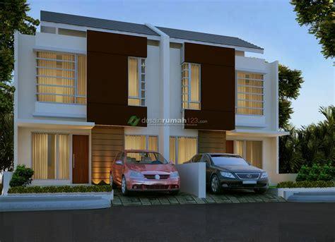 desain rumah minimalis  lantai  lahan     dr