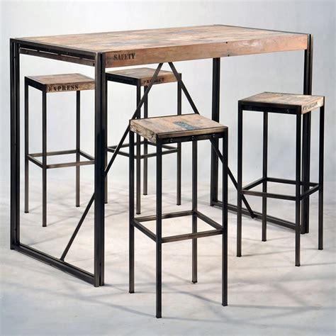 bureau design suisse mange debout industriel en fer et de bois pas cher