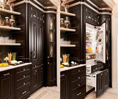 built  refrigerators  blend perfectly   kitchens decor