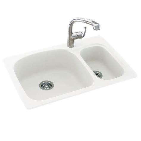 homedepot kitchen sinks drop in undermount composite 33 in 1 70 30 1680