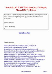 Kawasaki Kle 500 Workshop Service Repair Manual Pdf By