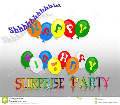 Birthday Surprise Party Invitation Stock Illustration