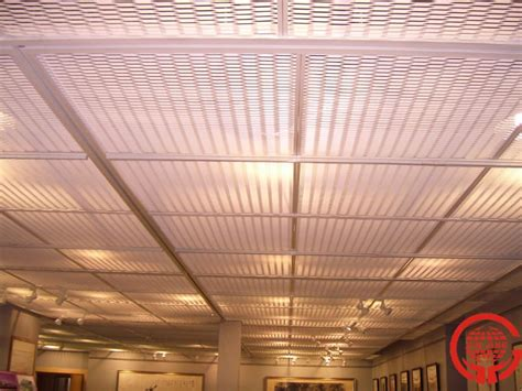 metal stretched drop ceiling tiles grid panel buy metal