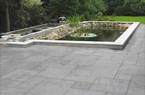 Terrasse Mit Granitplatten : teicheinfassung mit granitplatten crystal white passend ~ Sanjose-hotels-ca.com Haus und Dekorationen