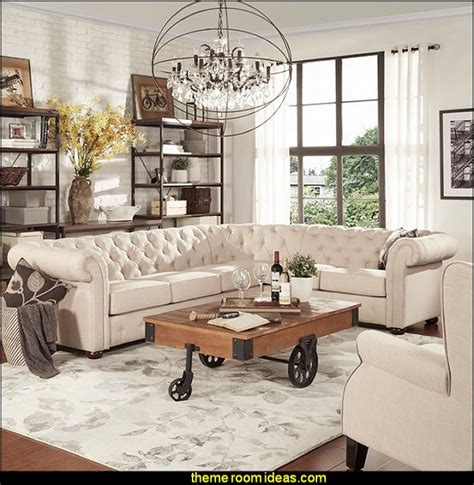 Industrial Chic Home Decor by Decorating Theme Bedrooms Maries Manor Industrial Style