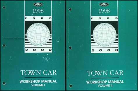 automotive repair manual 1998 lincoln town car transmission 1998 lincoln town car original repair shop manual 2 volume set 98 workshop oem ebay