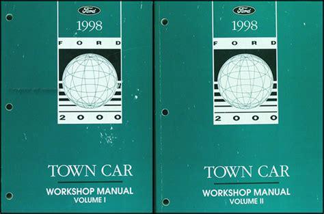 car manuals free online 1998 lincoln town car engine control 1998 lincoln town car original repair shop manual 2 volume set 98 workshop oem ebay