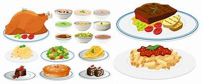 Types Different Plates Clipart Vector Resources System