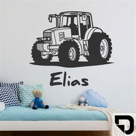 Wandtattoo Kinderzimmer Junge Traktor wandtattoo traktor mit wunschname kinderzimmer deko