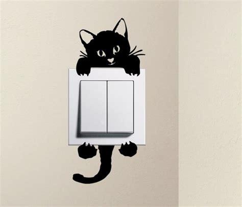designer cat baby pet light switch sticker