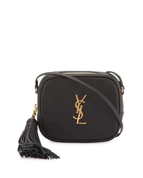 saint laurent monogram blogger crossbody bag black