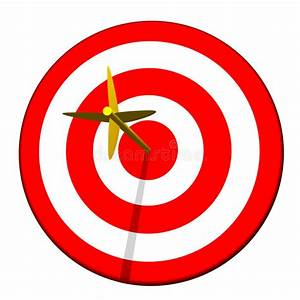 Arrow in Target Bullseye stock illustration. Illustration ...