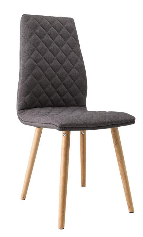 rue de la chaise chaise de salle à manger contemporaine bois tissu