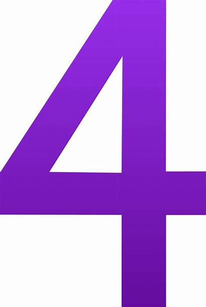 Number Clip Four Clipart Cliparts Numbers Cartoon