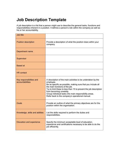 free description template 47 description templates exles template lab