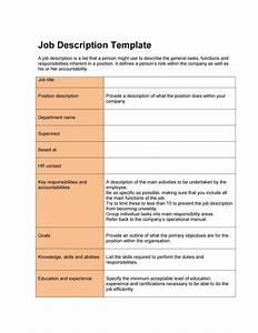 49 free job description templates examples free With how to create job description template