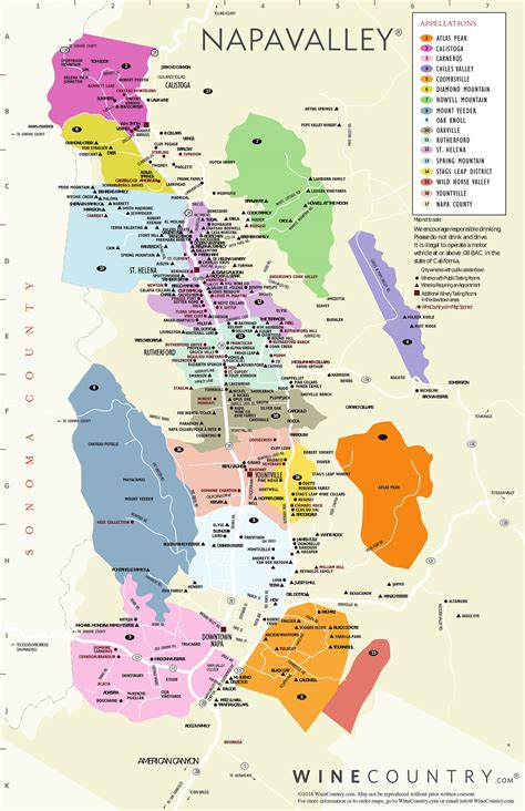 Napa Valley Wine Country Maps Napavalleycom