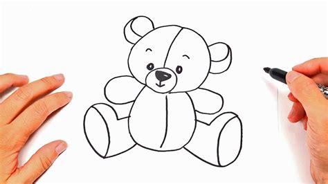 como dibujar un osito de peluche dibujos infantiles bonitos