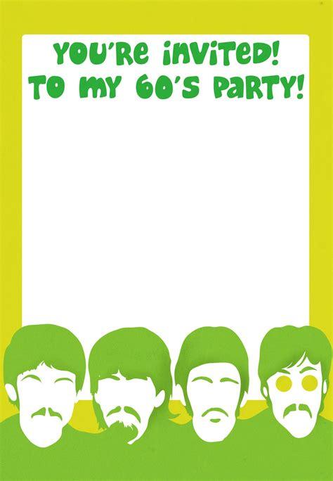 printable  party invitation   beatles