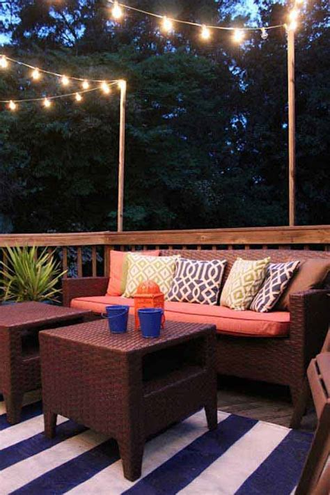 jaw dropping beautiful yard  patio string lighting