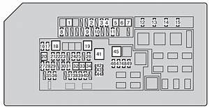 Toyota 4runner  From 2013  - Fuse Box Diagram