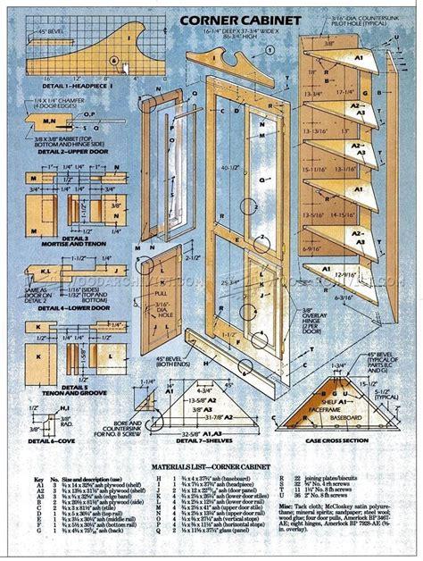 corner drawer cabinet corner cabinet plans woodarchivist