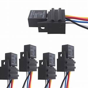 Ee Support 5 X Car 30a Amp 12v Relay Kit Spdt For Fan Fuel
