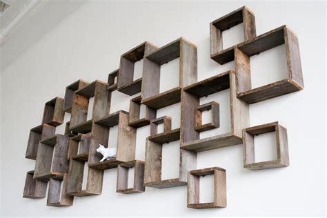 Shadow Box Wall Installation Barn Wood Shelves