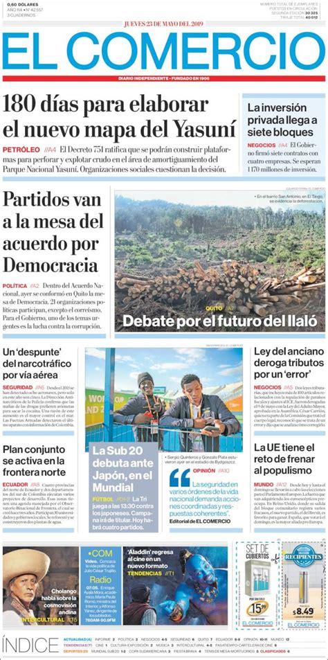 Portada Jueves 23 de Mayo-El Comercio (Ecuador) | ALnavío ...