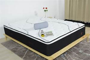 Low price pillow top queen size pocket spring mattress for Best price on queen mattress