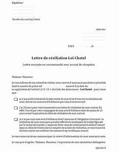 Résiliation Assurance Auto Loi Chatel : mod le de lettre de r siliation d 39 assurance auto gratuit instantassur ~ Medecine-chirurgie-esthetiques.com Avis de Voitures