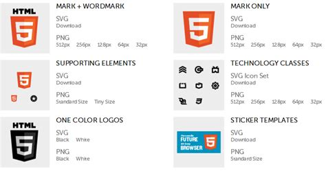 Download Official Html5 Logos And Icons From W3c