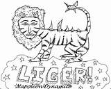 Dynamite Napoleon Liger Drawing Coloring Pages Tiger Violations Card Template Zine Beat Issue Drawings Boardgames Sketch Humorous While Paintingvalley November sketch template